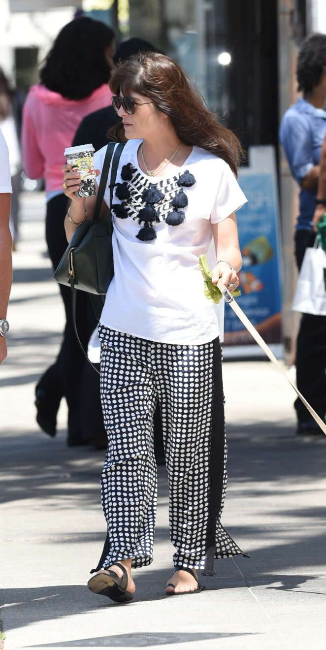 Selma Blair with her dog out in Los Angeles