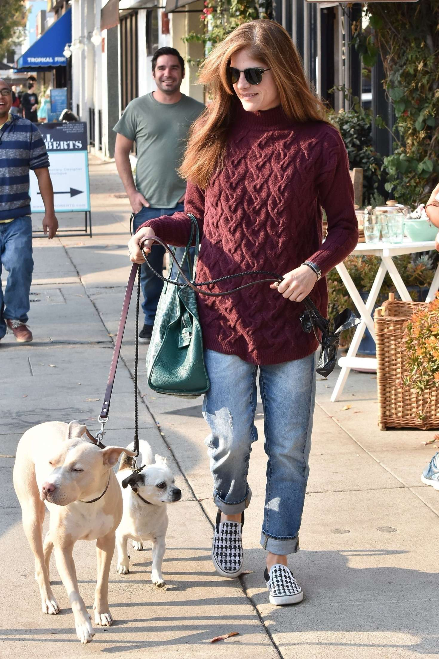 Selma Blair with her dogs out in Studio City