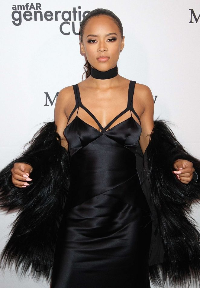Serayah McNeill: 2016 amfAR GenerationCure Holiday Party -01
