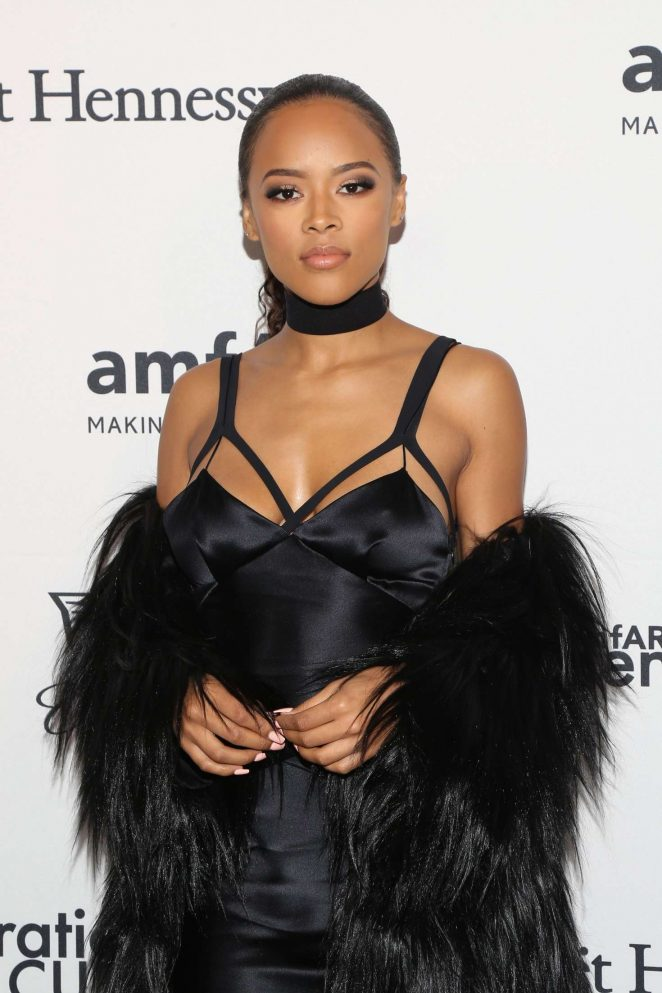 Serayah McNeill: 2016 amfAR GenerationCure Holiday Party -07