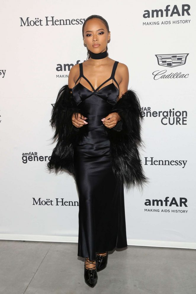Serayah McNeill: 2016 amfAR GenerationCure Holiday Party -11