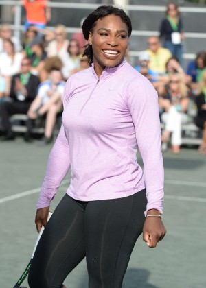 Serena Williams - All Star Tennis Event at The Miami Open 2016 in Miami