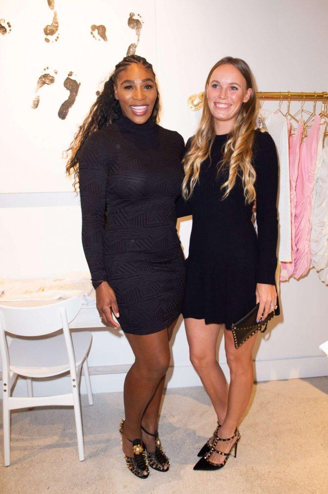 Serena Williams and Caroline Wozniacki - Serena Williams Pop Up during Art Basel in Miami Beach