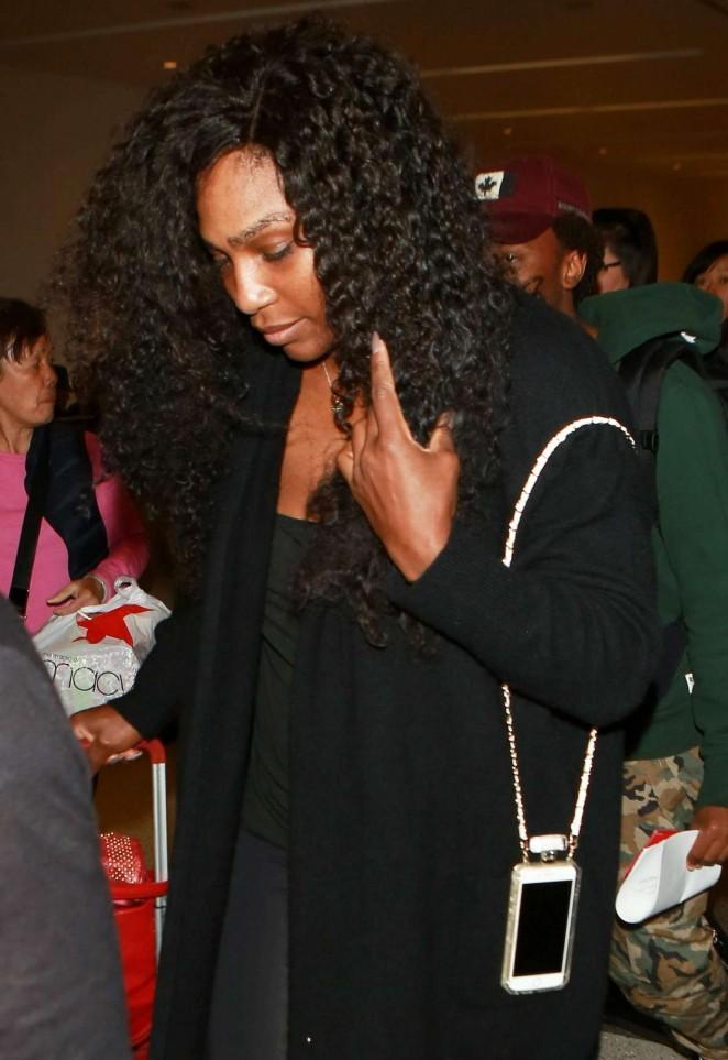 Serena Williams arriving at LAX December