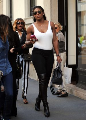 Serena Williams at Milan Fashion Week in Italy