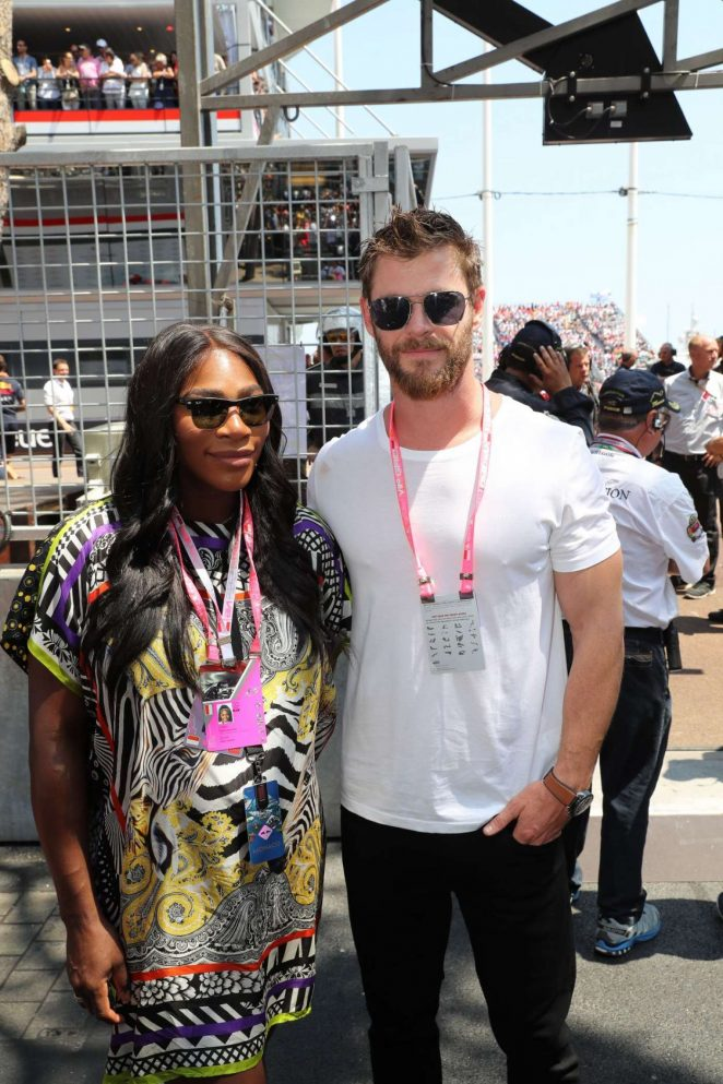 Serena Williams at Monaco Formula One Grand Prix in Monaco