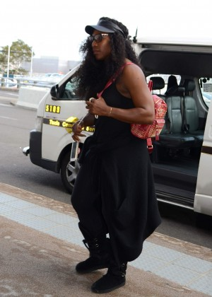 Serena Williams at Sydney Domestic Airport