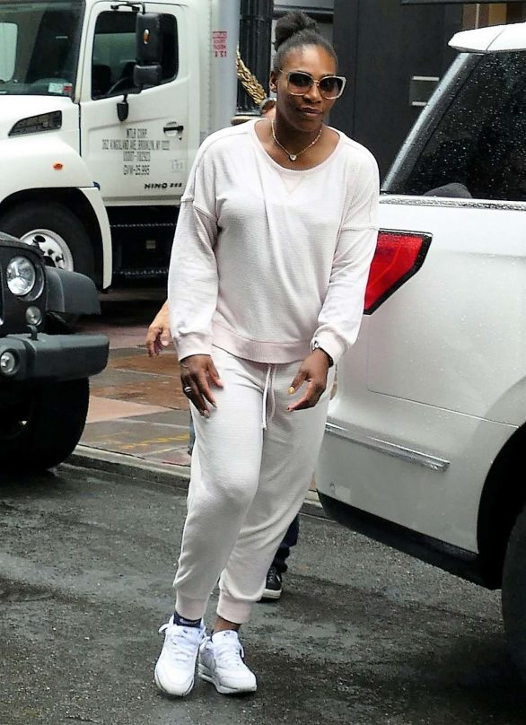 Serena Williams - Heads out for practise session in New York City