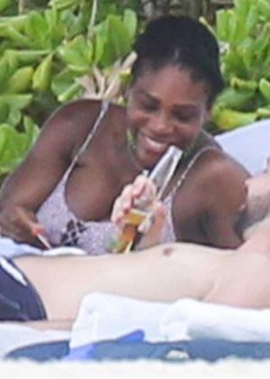 Serena Williams in Bikini at the Beach in Tulum