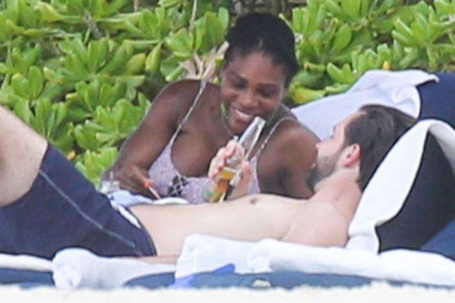 Serena Williams in Bikini at the Beach in Tulum