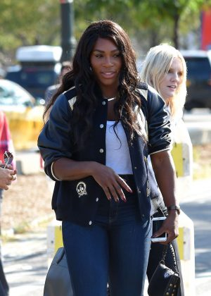 Serena Williams in Jeans out in Manhattan