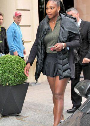 Serena Williams - Leaves her hotel in Paris