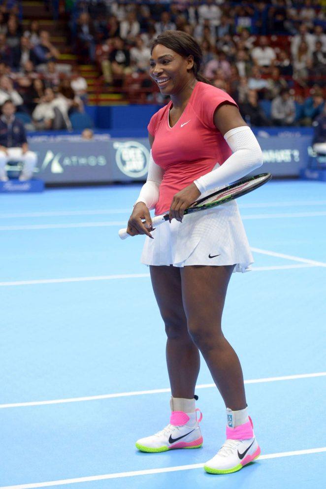 Serena Williams - Novak Djokovic & Friends Charity Tennis Event in Milan