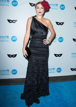 Serinda Swan - 2015 UNICEF Black & White Masquerade Ball in LA
