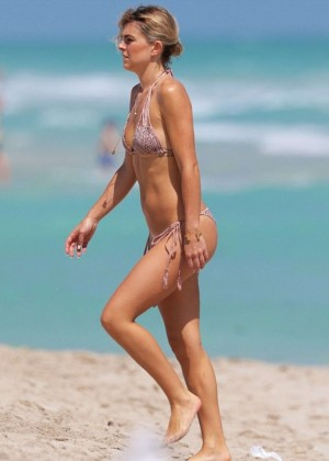Serinda Swan - Bikini on a beach in Miami
