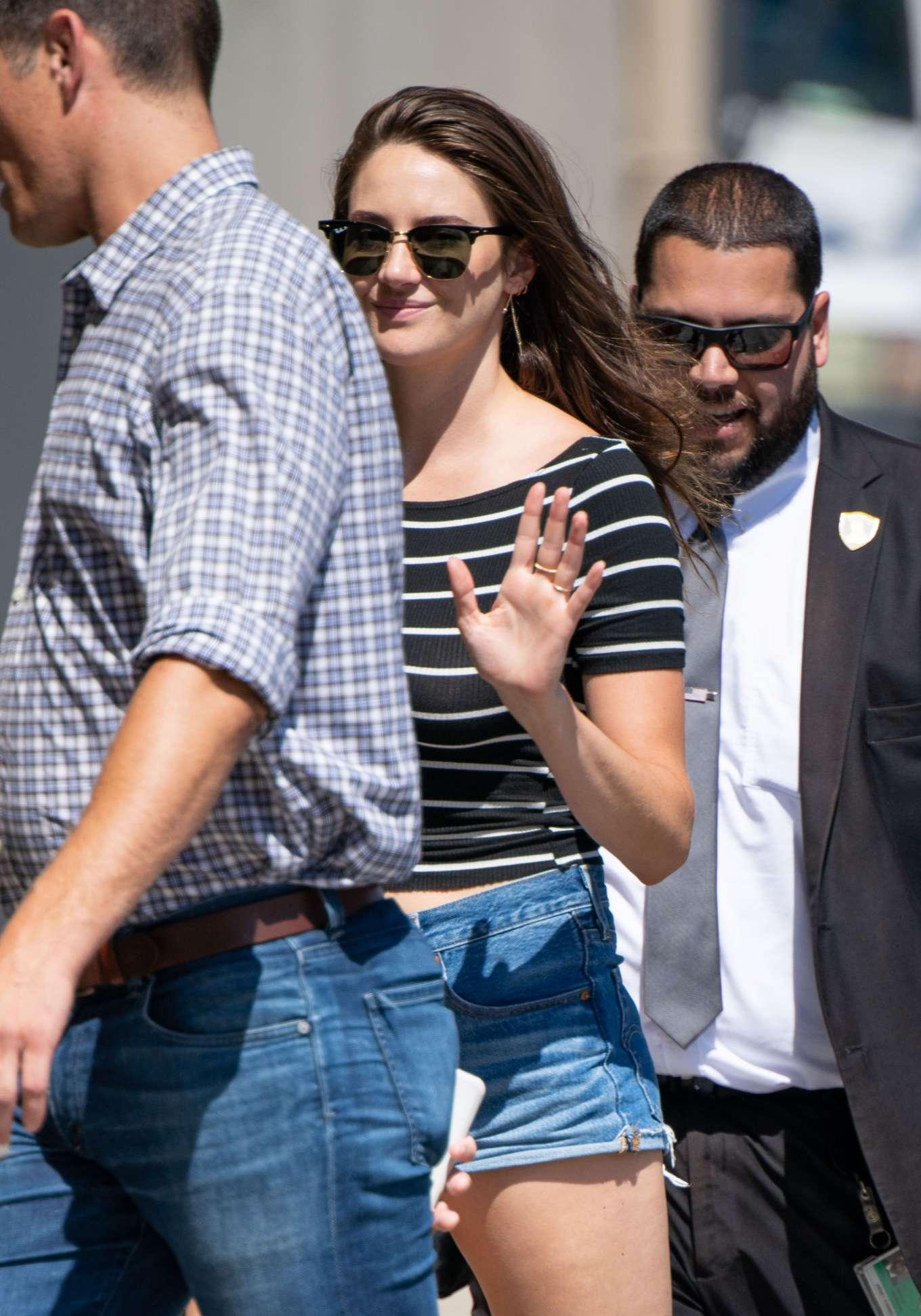 Shailene Woodley - Arriving at Jimmy Kimmel Live! in Hollywood