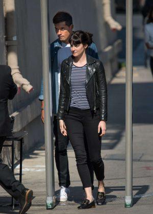 Shailene Woodley - Arriving at Jimmy Kimmel Live! in LA