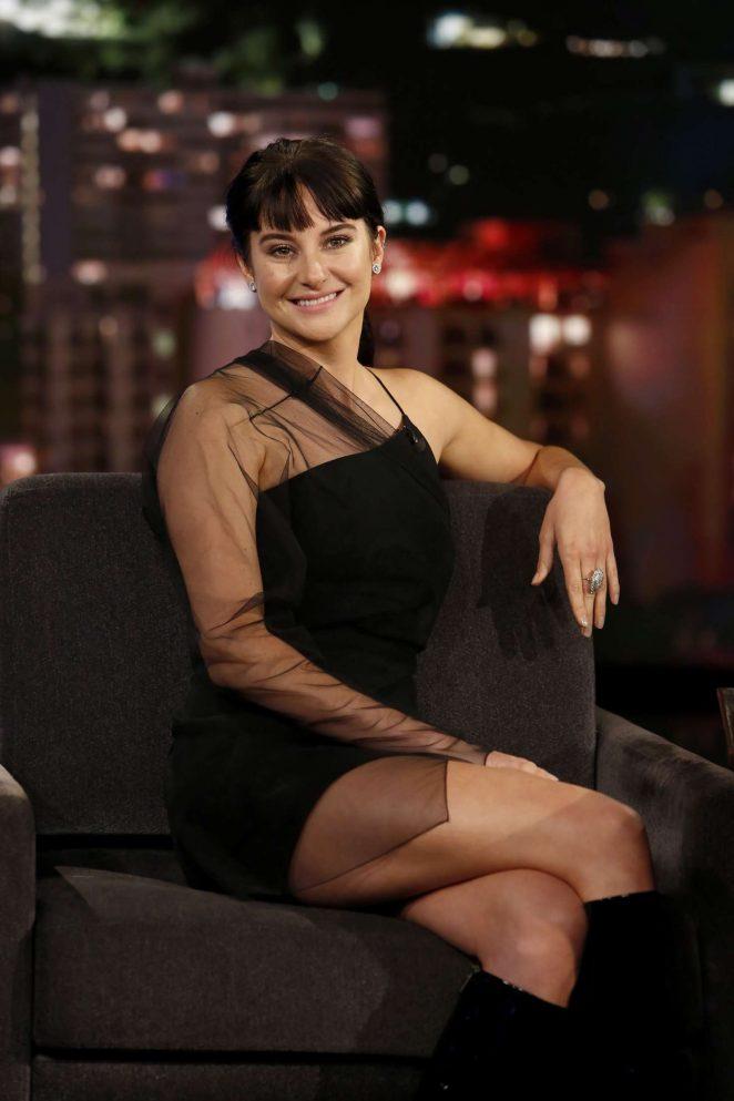 Shailene Woodley at Jimmy Kimmel Live! in Los Angeles
