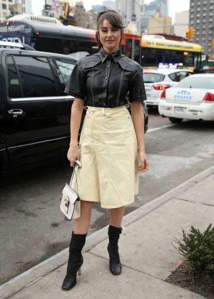Shailene Woodley at New York Fashion Week in New York City