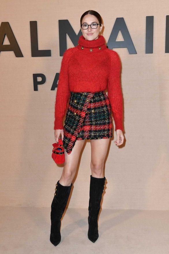Shailene Woodley - Balmain Fashion Show at Paris Fashion Week 2020