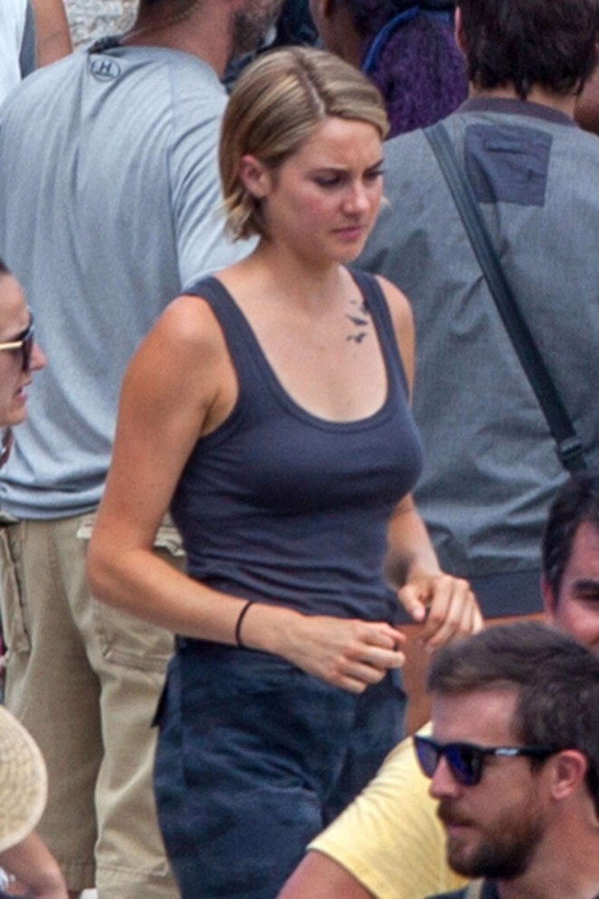Shailene Woodley - Filming 'Allegiant - Part 1' set in Atlanta