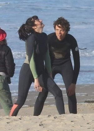 Shailene Woodley - Gets a surfing lesson on the set of 'Big Little Lies' in Sausalito