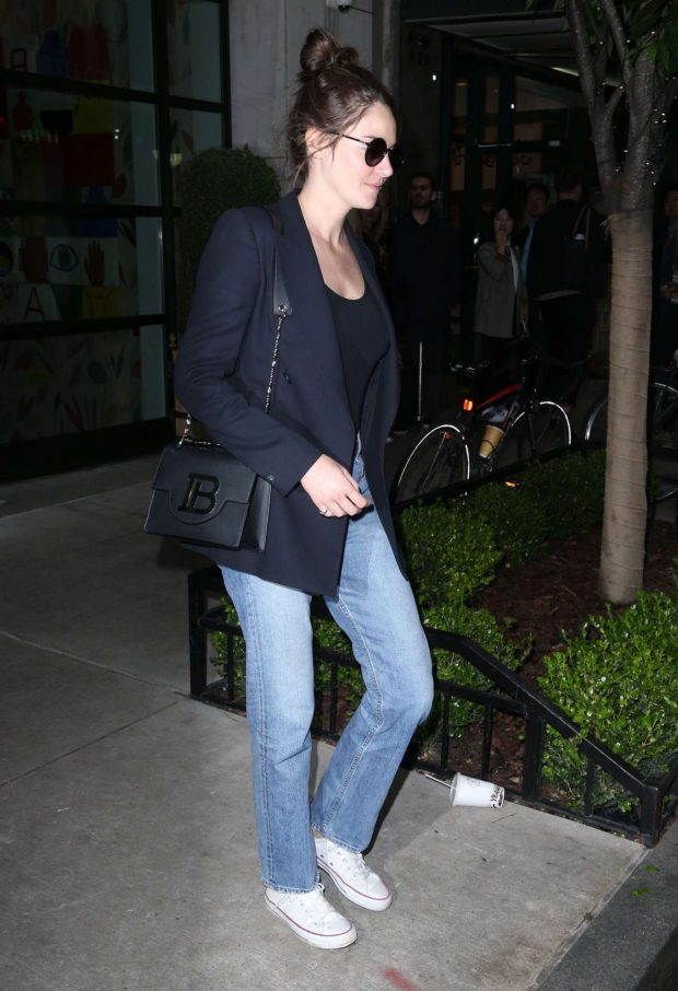 Shailene Woodley in a Blue Blazer and Jeans - Out in NYC