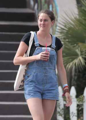 Shailene Woodley in Jeans Shorts out in Los Angeles