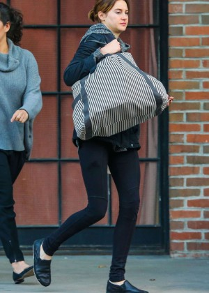 Shailene Woodley in Tights Out in NYC