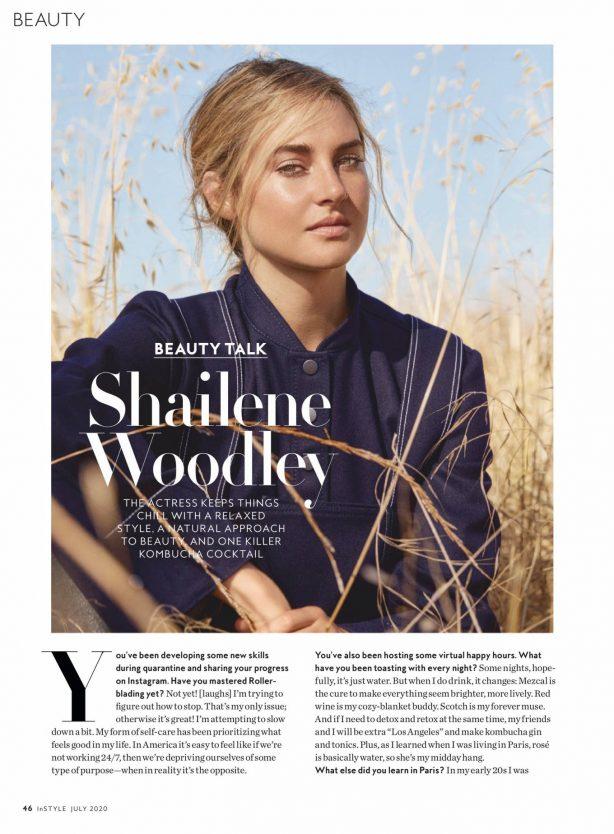Shailene Woodley - InStyle US Magazine (July 2020)