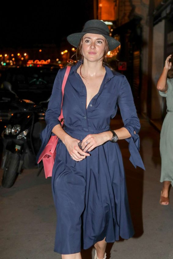 Shailene Woodley - Leaves Laperous Restaurant in Paris