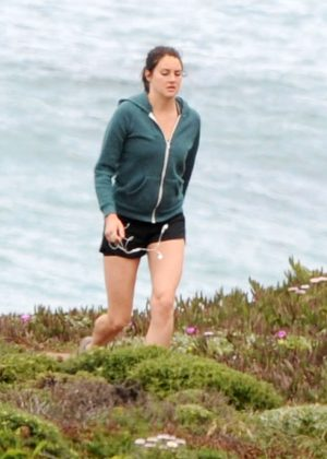 Shailene Woodley on the set of 'Big Little Lies' in California