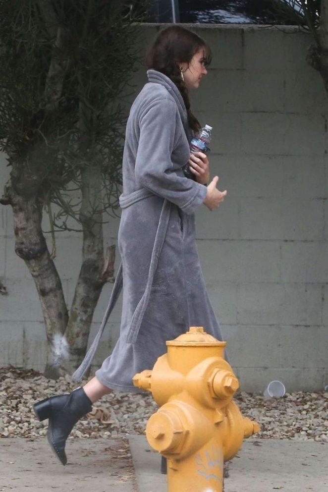 Shailene Woodley – On the set of her untitled Drake Doremus project in LA