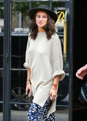 Shailene Woodley out in New York