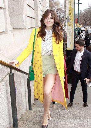 Shailene Woodley - Outside Carolina Herrera Fashion Show in NYC