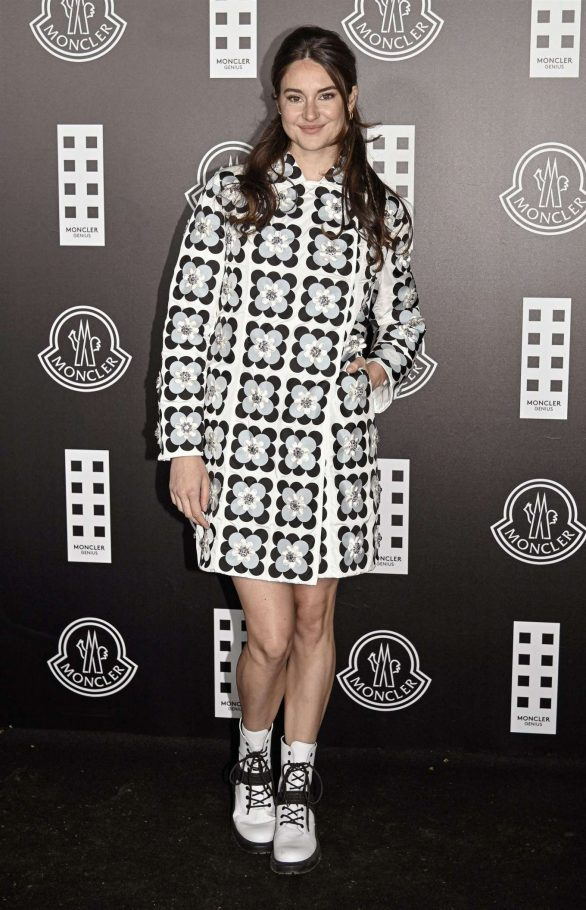 Shailene Woodley - Posing at Moncler fashion show in Milan