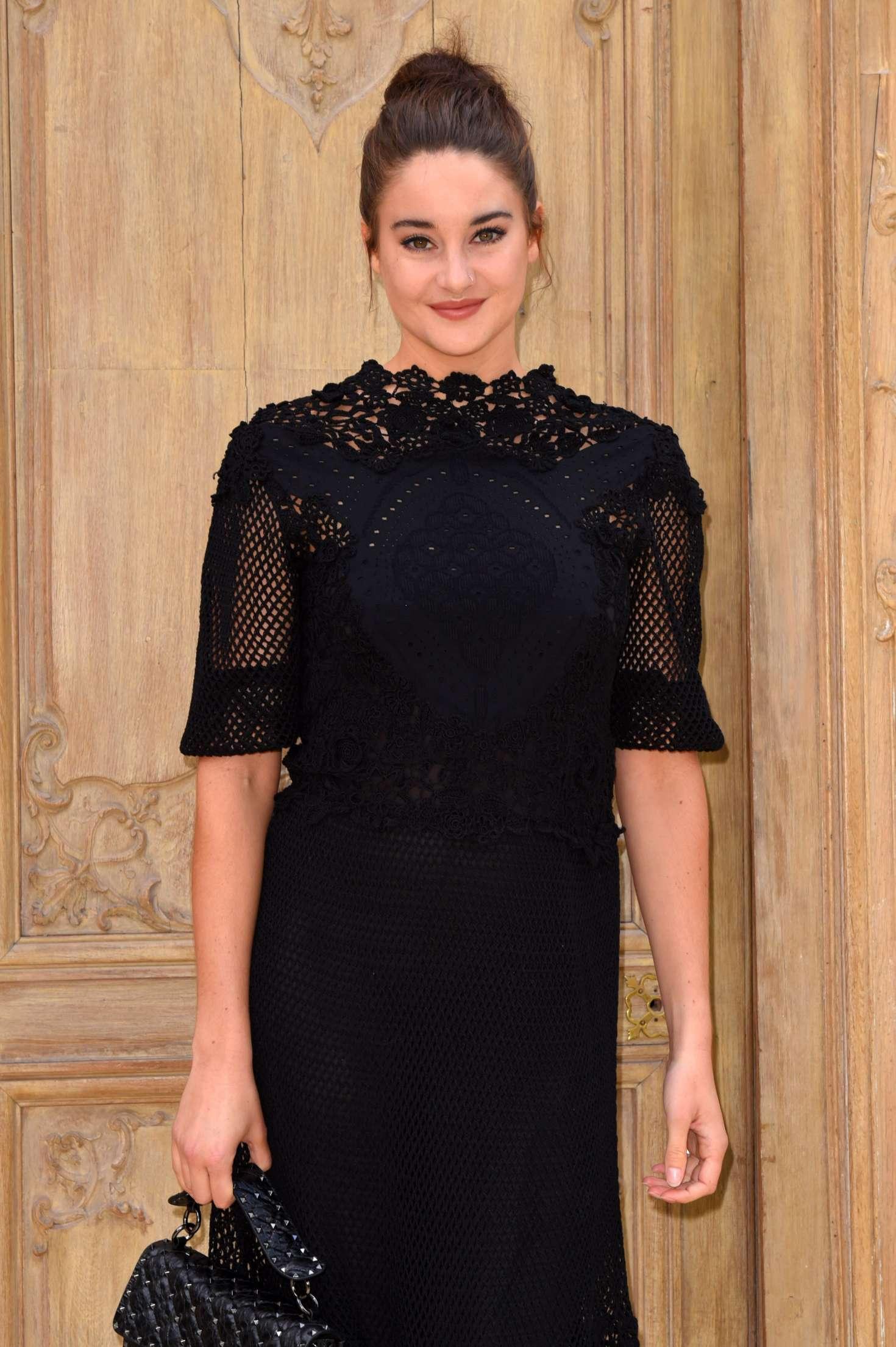 Shailene Woodley - Valentino Fashion Show SS17 in Paris