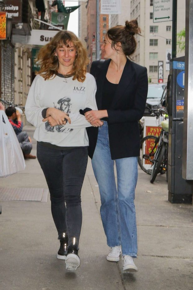 Shailene Woodley with a friend out in NYC