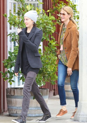 Shailene Woodley with Laura Dern at the Country Mart in Brentwood