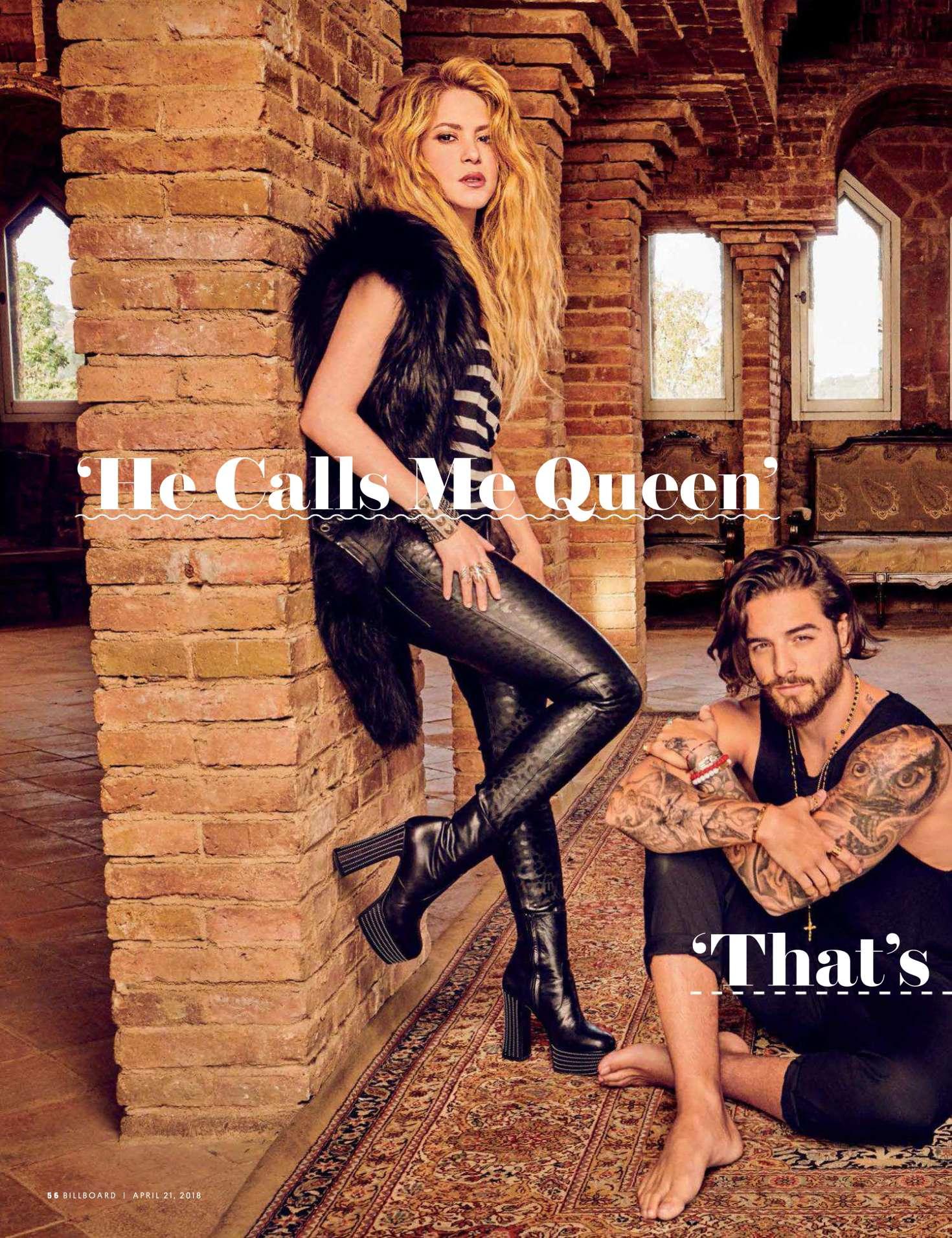 Shakira 2018 : Shakira and Maluma: Billboard Magazine 2018 -07