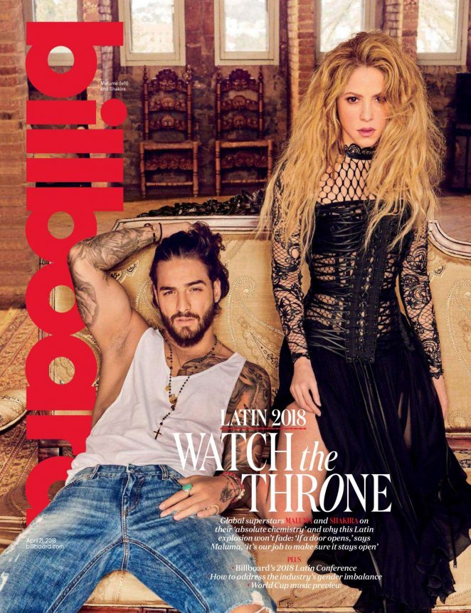 Shakira and Maluma - Billboard Magazine (April 2018)