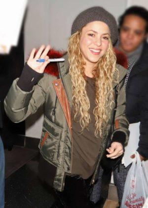 Shakira - Arrives at JFK airport in New York City
