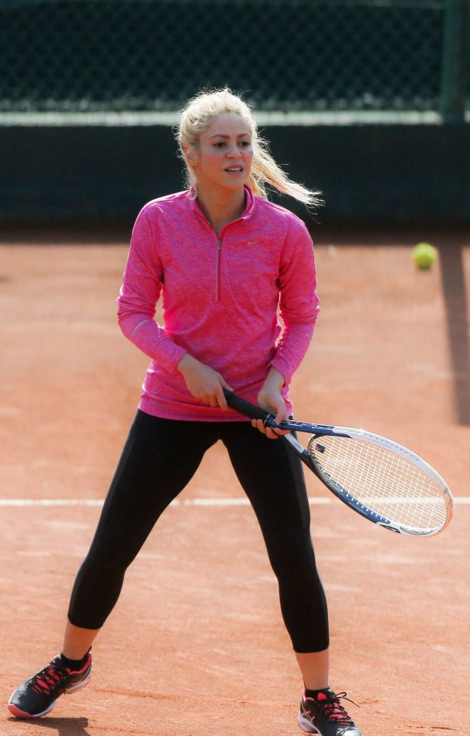 Shakira at a Luxury tennis club in Barcelona