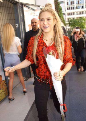 Shakira at NRJ Radio in Paris
