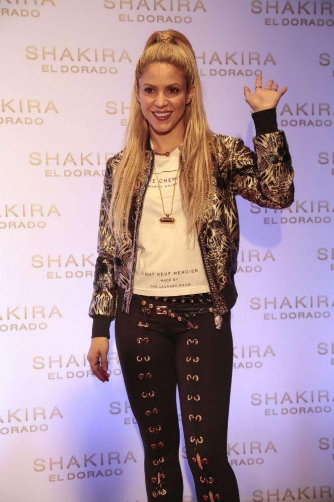 Shakira - 'El Dorado' Album Launch in Barcelona