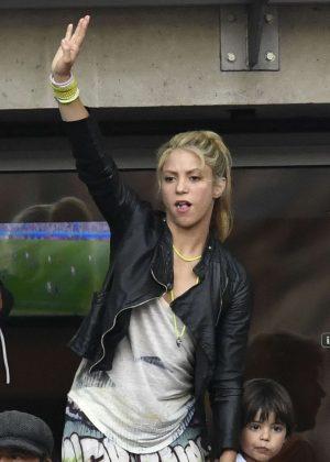 Shakira - Spain Vs Italy Football Match in Paris