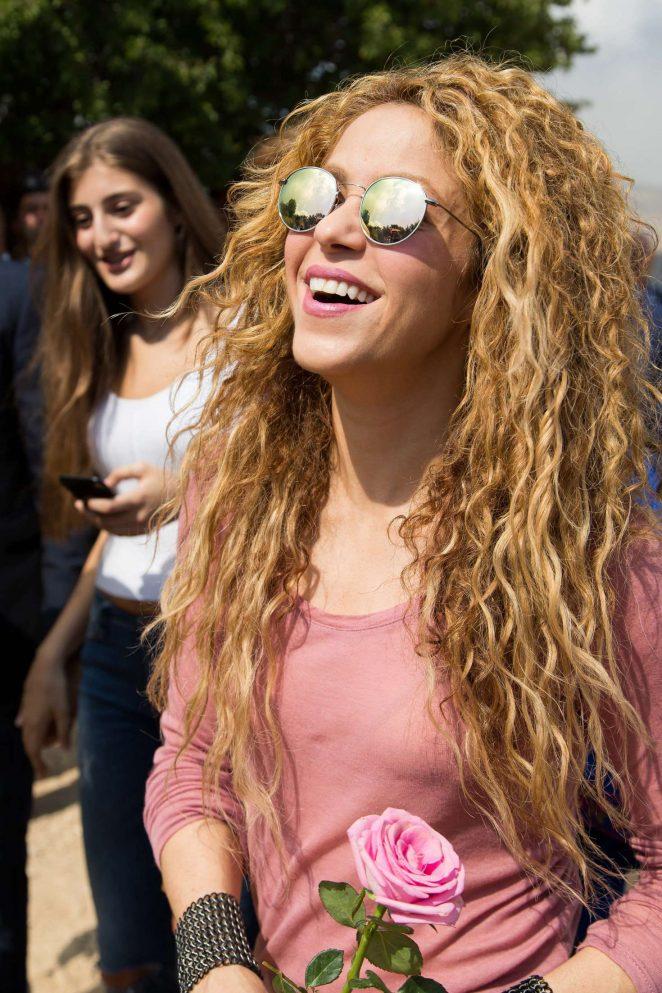 Shakira - Visits the northern Lebanese mountain village in Lebanon