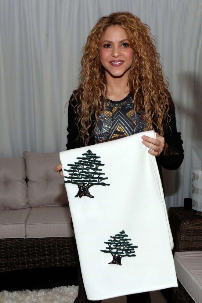 Shakira with Lebanese Member of Parliament Sethrida Geagea in Lebanon