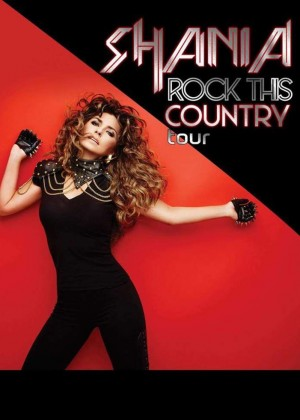 Shania Twain - Rock This Country 2015 Tour Poster