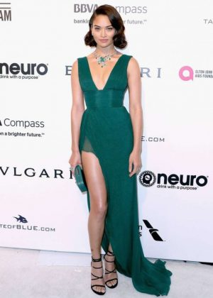 Shanina Shaik - 2017 Elton John AIDS Foundation's Oscar Viewing Party in West Hollywood